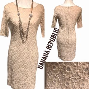 Banana Republic beige embroidered details …